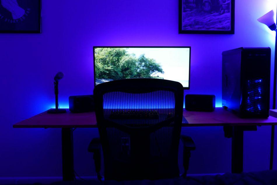 Diy Led Lighting For Your Desk Ethan, Led Lights For Desk